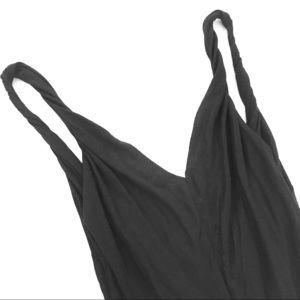BCBGirls Black Backless V-Neck Party Top Sz Med